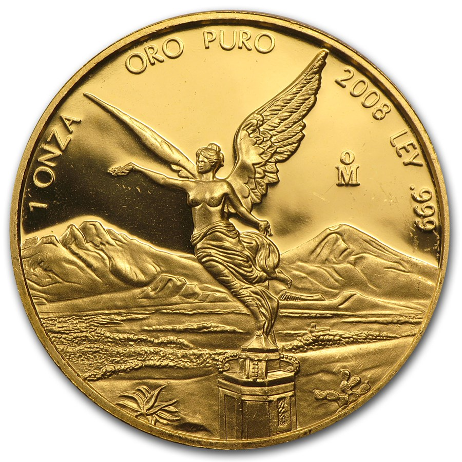 2008 1 oz Gold Mexican Libertad Proof (Abrasions)