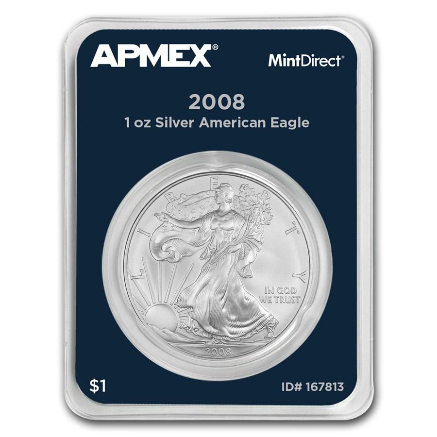 2008 1 oz Silver American Eagle (MintDirect® Single)