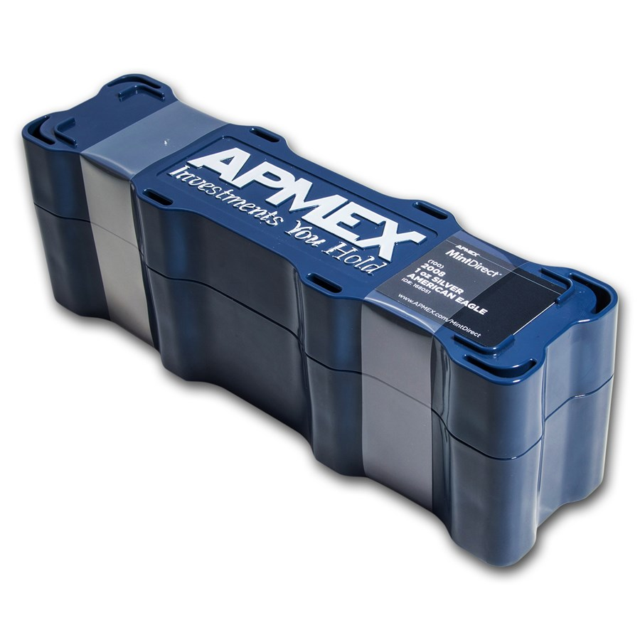 2008 100-Coin Silver American Eagle MintDirect® Mini Monster Box