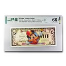 2008 $5.00 Disney Dollar Marching Band Mickey Gem CU-66 EPQ PMG