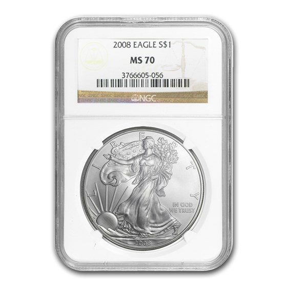 2008 American Silver Eagle MS-70 NGC