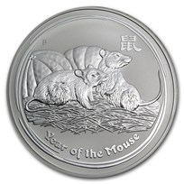 2008 Australia 1 kilo Silver Year of the Mouse BU (Series II)