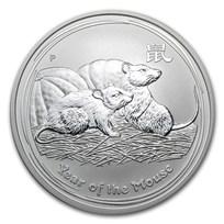 2008 Australia 1 oz Silver Year of the Mouse BU (Series II)