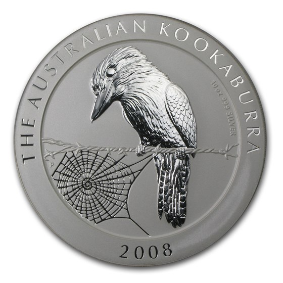 2008 Australia 10 oz Silver Kookaburra BU