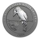 2008 Australia 2 oz Silver Kookaburra BU