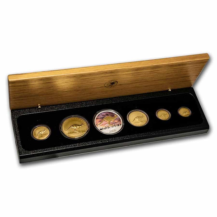 2008 Australia 6-Coin Gold/Silver Kangaroo Prestige Set (No CoA)