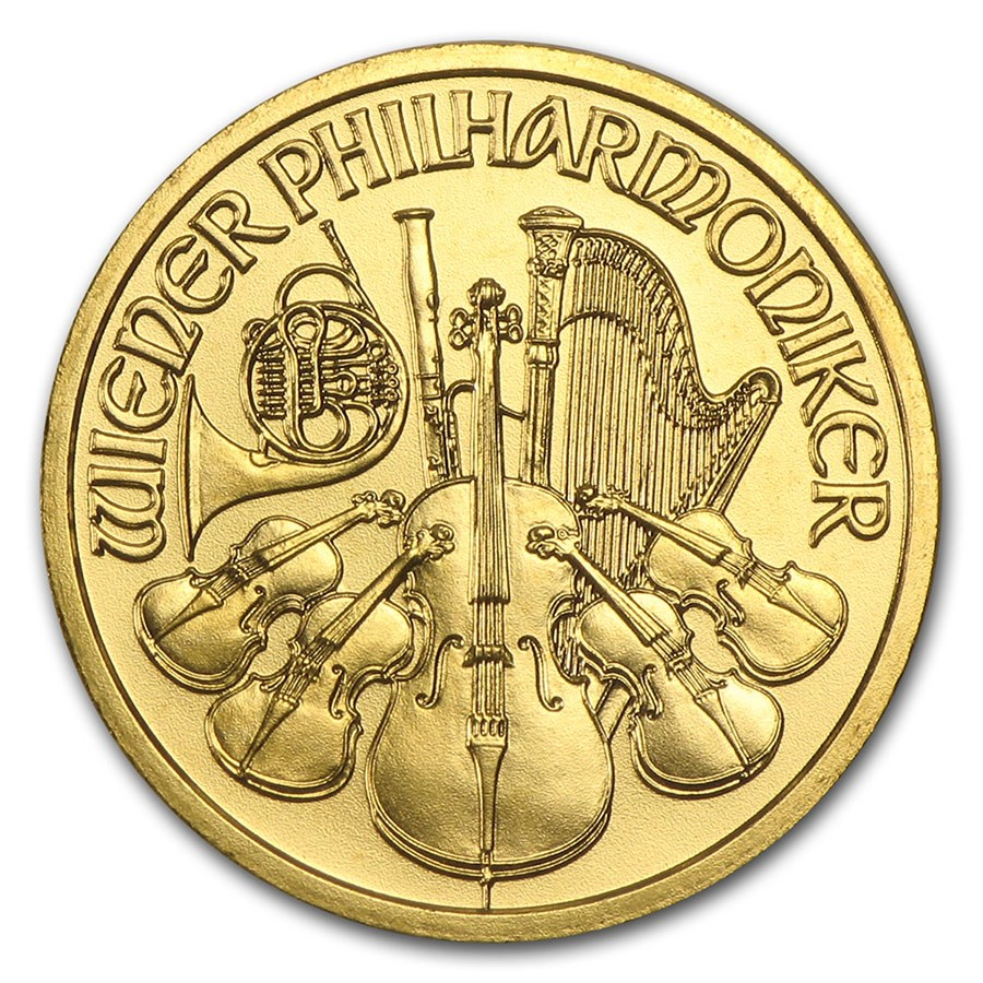 2008 Austria 1/10 oz Gold Philharmonic BU