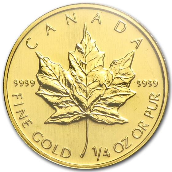 2008 Canada 1/4 oz Gold Maple Leaf BU