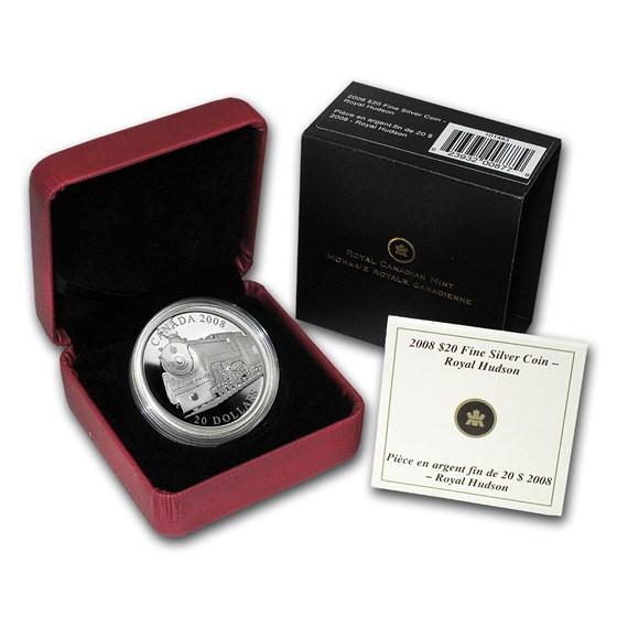2008 Canada 1 oz Silver $20 Great Locomotives (Royal Hudson)