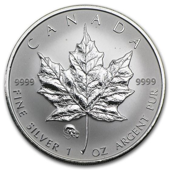 2008 Canada 1 oz Silver Maple Leaf Lunar Rat Privy