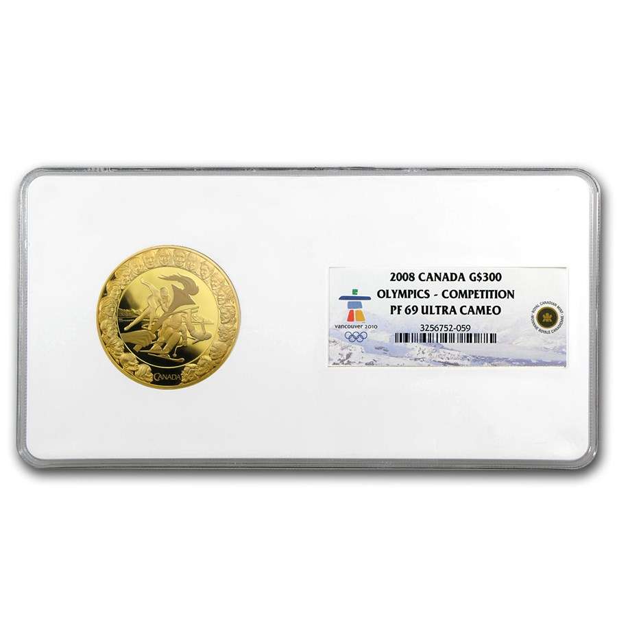 2008 Canada Gold $300 Olympics Competition PF-69 NGC