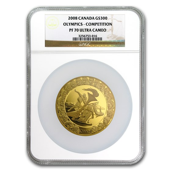 2008 Canada Gold $300 Olympics Competition PF-70 NGC