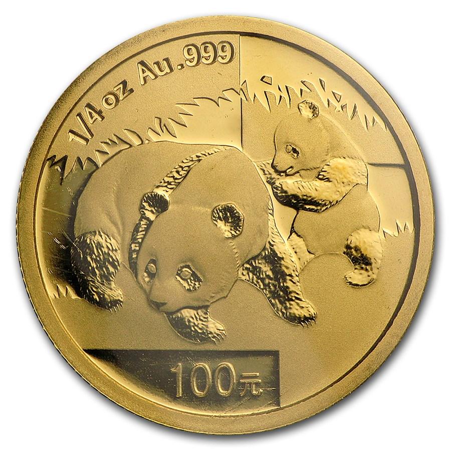 2008 China 1/4 oz Gold Panda BU (Sealed)
