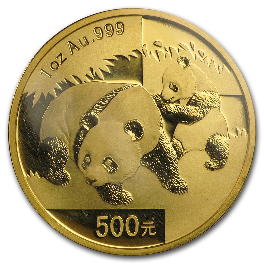 2008 China 1 oz Gold Panda BU (Sealed)
