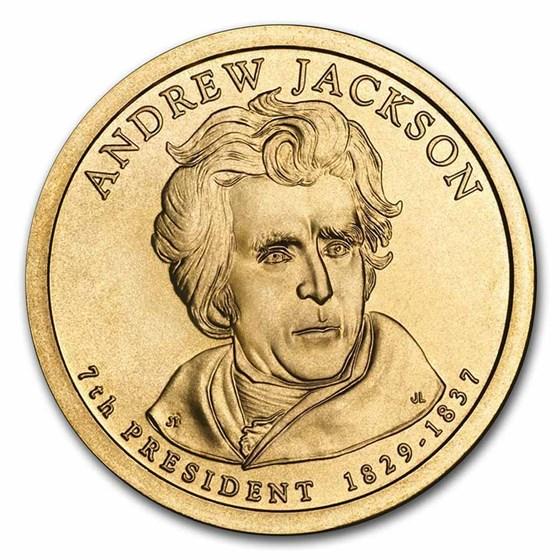 2008-D Andrew Jackson 25-Coin Presidential Dollar Roll