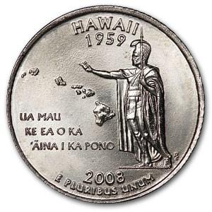 2008-D Hawaii State Quarter BU