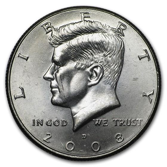 2008-D Kennedy Half Dollar BU