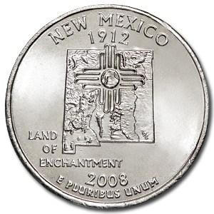 2008-D New Mexico State Quarter BU