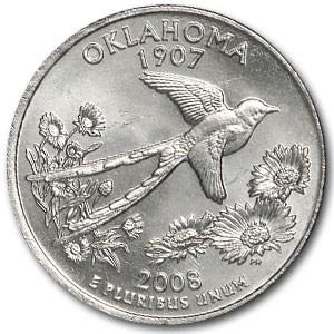 2008-D Oklahoma State Quarter BU