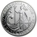 2008 Great Britain 1 oz Silver Britannia BU