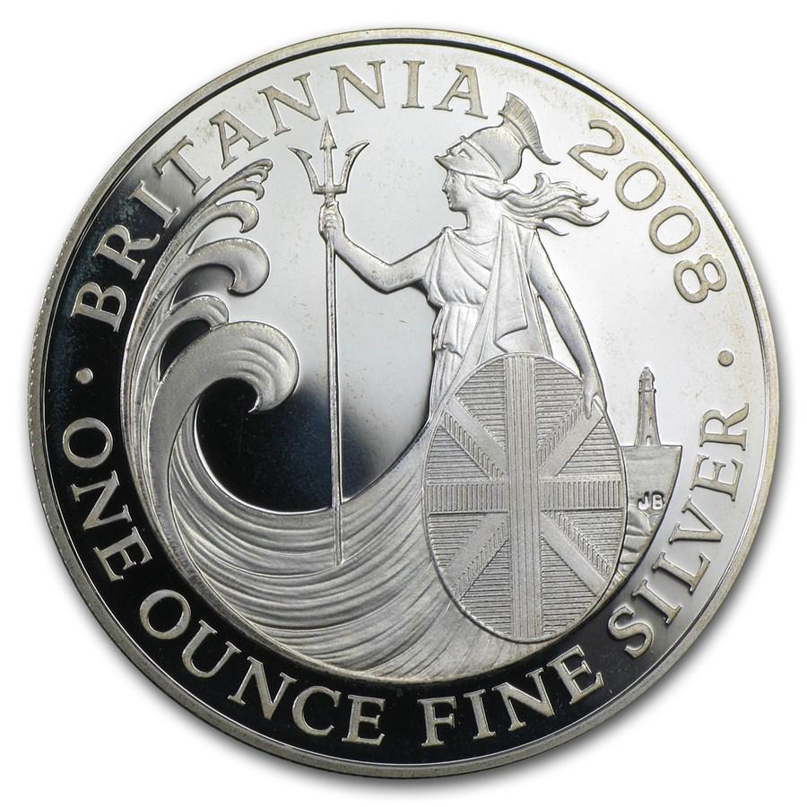 2008 Great Britain 1 oz Silver Proof Britannia (w/Box & COA)