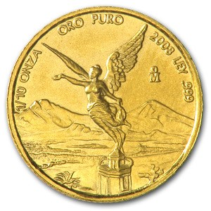 2008 Mexico 1/10 oz Gold Libertad BU
