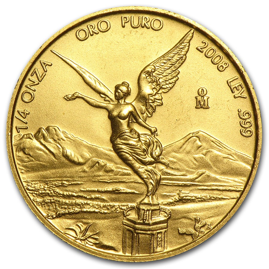 2008 Mexico 1/4 oz Gold Libertad BU
