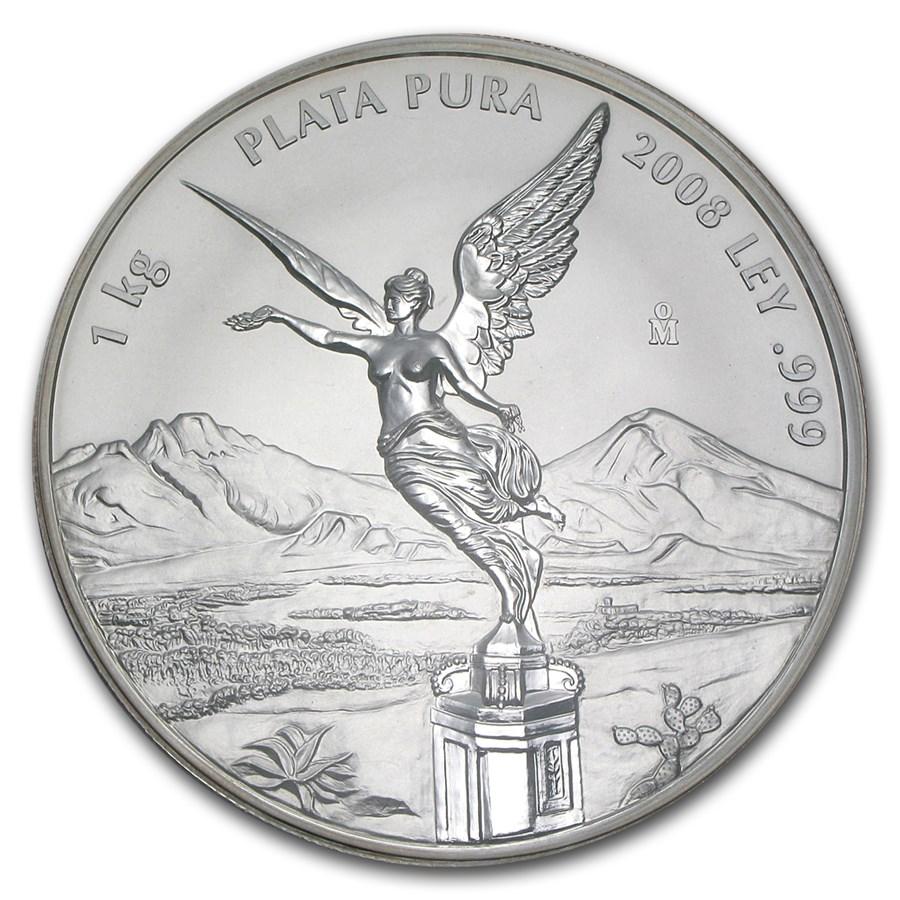 2008 Mexico 1 kilo Silver Libertad Proof Like (Capsule only)