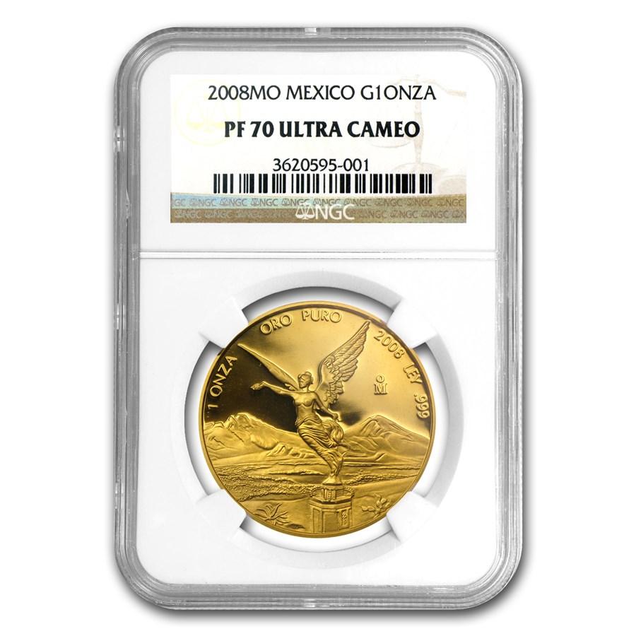 2008 Mexico 1 oz Gold Libertad PF-70 NGC
