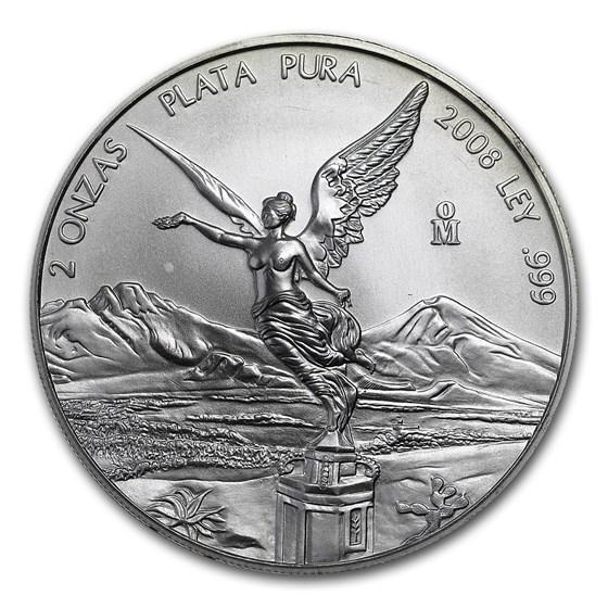 2008 Mexico 2 oz Silver Libertad BU