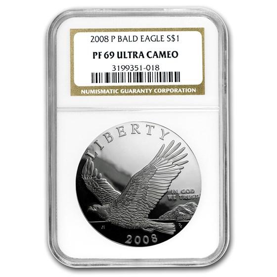 2008-P Bald Eagle $1 Silver Commem PF-69 NGC