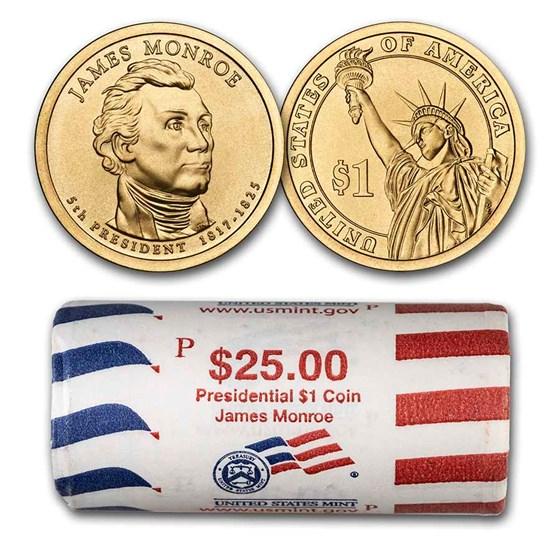 2008-P James Monroe 25-Coin Presidential Dollar Roll