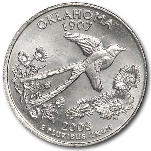 2008-P Oklahoma State Quarter BU