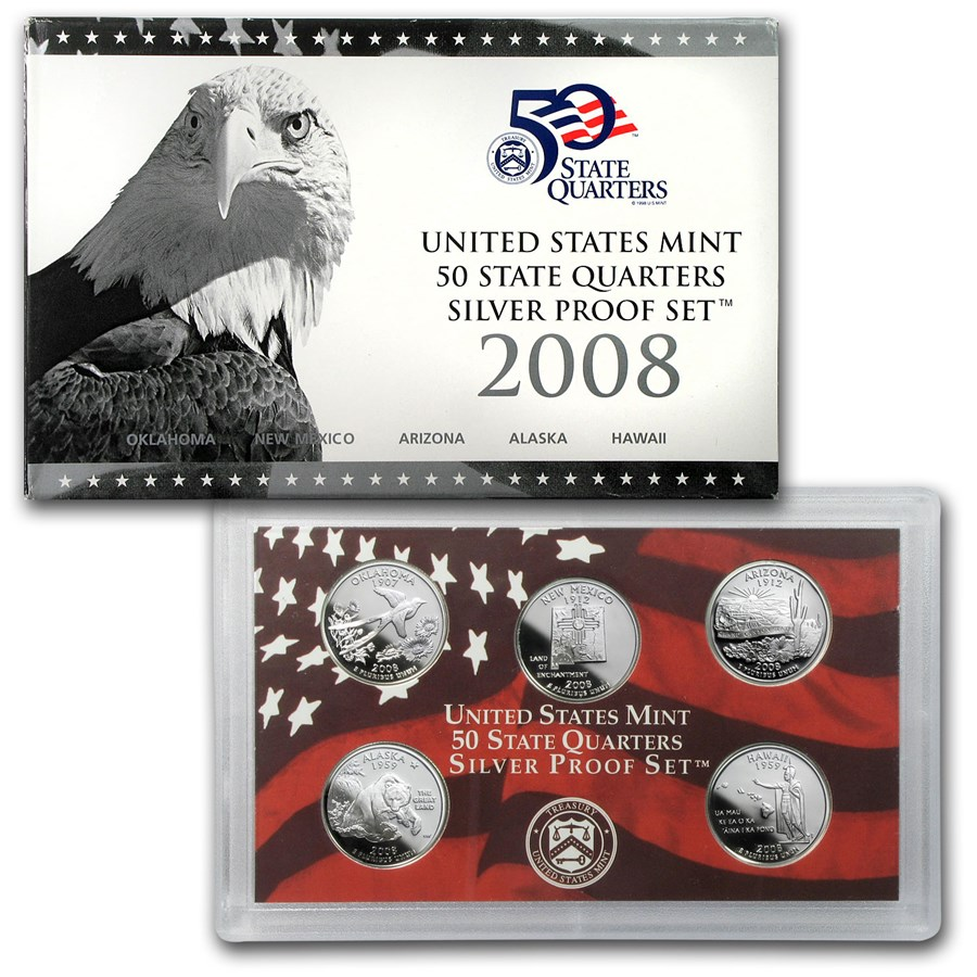 2008-S 50 State Quarters Proof Set (Silver)