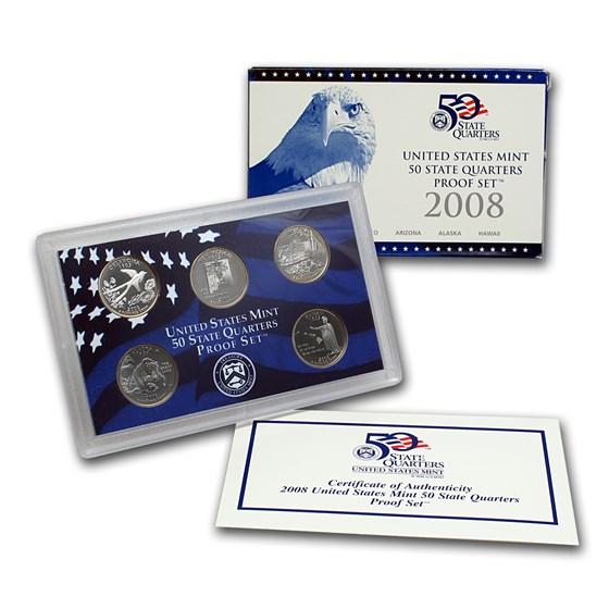 2008-S 50 State Quarters Proof Set