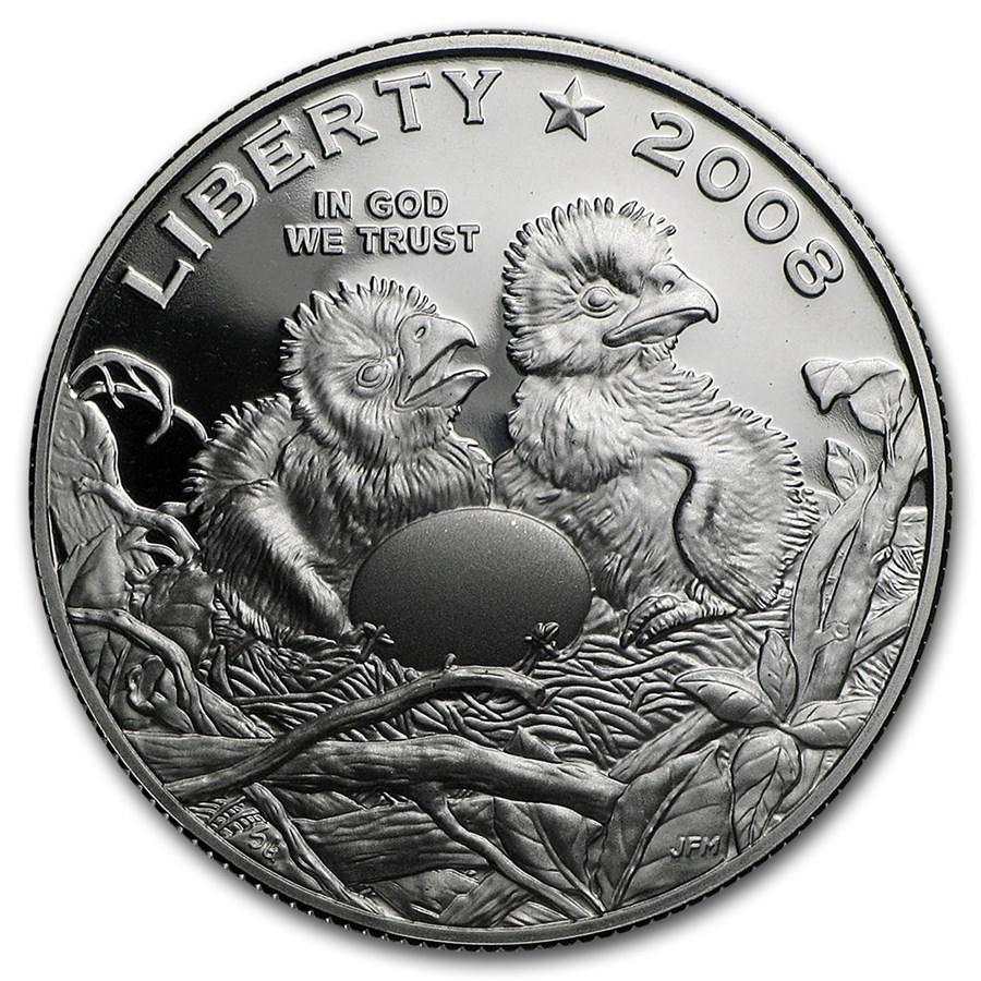 2008-S Bald Eagle 1/2 Dollar Clad Commem Proof (Capsule Only)