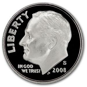 2008-S Roosevelt Dime Gem Proof
