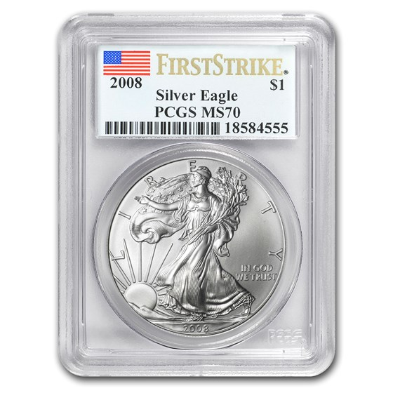 2008 Silver American Eagle MS-70 PCGS (FirstStrike®)