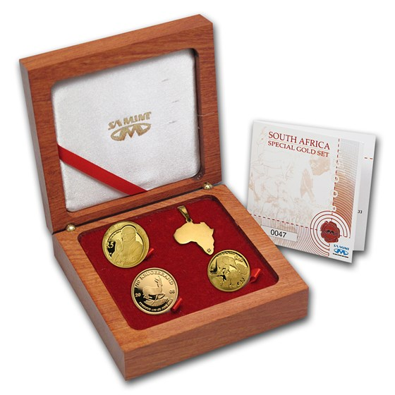 2008 South Africa 3-Coin Gold Collectors Edition Proof Set