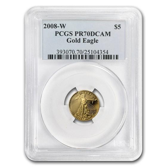 2008-W 1/10 oz Proof Gold Eagle PR-70 PCGS