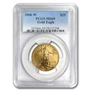 2008-W 1/2 oz Burnished American Gold Eagle MS-69 PCGS