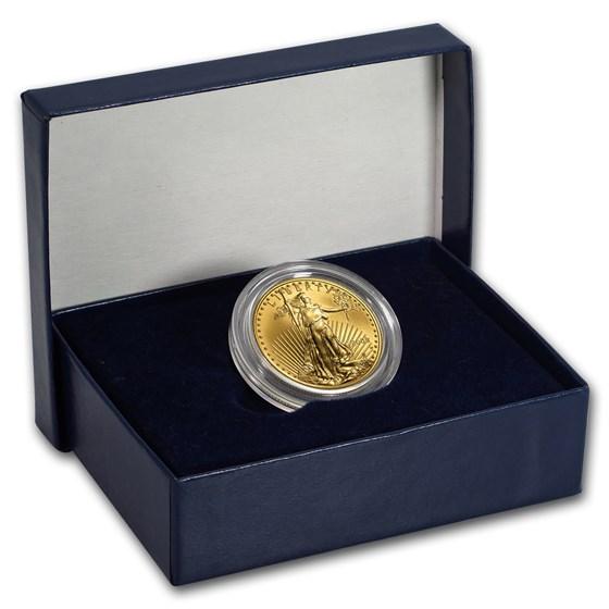2008-W 1/2 oz Burnished American Gold Eagle (w/Box & COA)