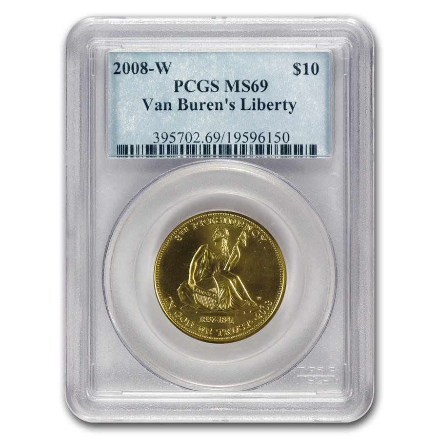 2008-W 1/2 oz Gold Van Buren's Liberty MS-69 PCGS