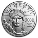 2008-W 1/4 oz Burnished American Platinum Eagle (w/Box & COA)