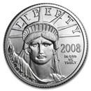 2008-W 1/4 oz Burnished Platinum American Eagle (w/Box & COA)