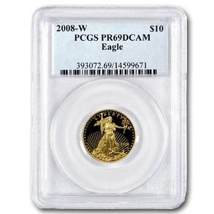 2008-W 1/4 oz Proof Gold American Eagle PR-69 PCGS