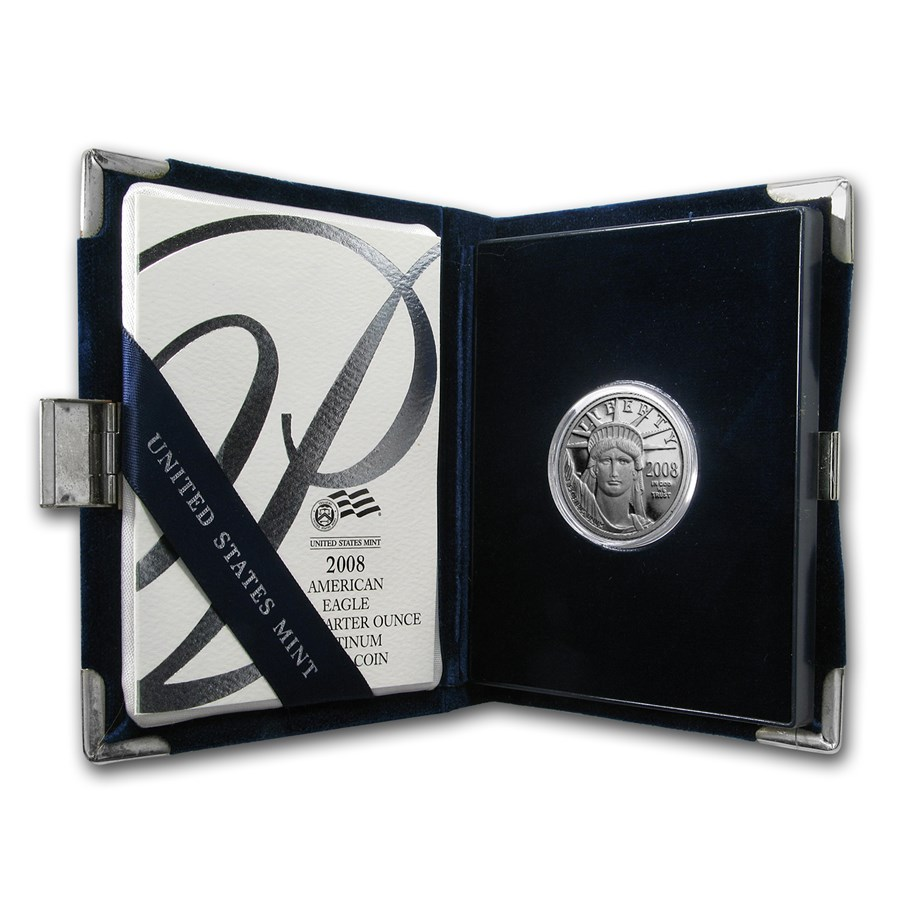 2008-W 1/4 oz Proof Platinum American Eagle (w/Box & COA)