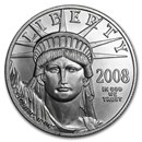 2008-W 1 oz Burnished American Platinum Eagle (w/Box & COA)