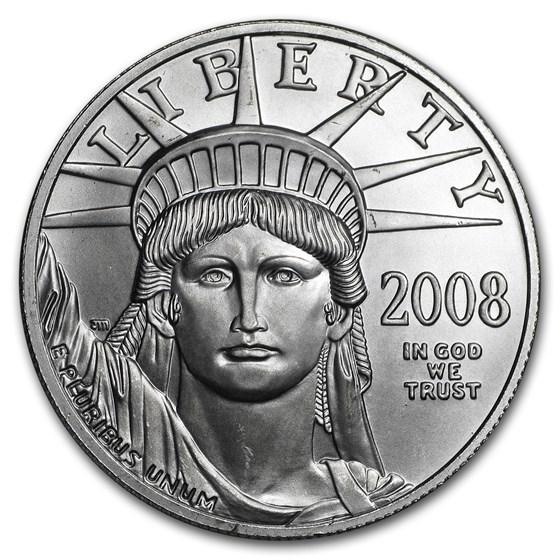 2008-W 1 oz Burnished American Platinum Eagle (w/Box & COA)