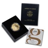 2008-W 1 oz Burnished Gold Eagle (w/Box & COA)